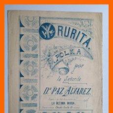 Partituras musicales: YRURITA, POLKA PARA PIANO POR LA SEÑORITA PAZ ALVAREZ. Lote 46120375