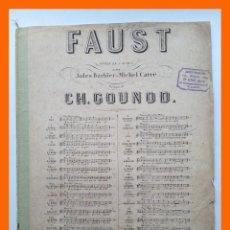 Partituras musicales: FAUST, ROMANCE DE LA PETITE SOEUR - CHARLES GOUNOD. Lote 46153636