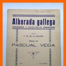 Partituras musicales: ALBORADA GALLEGA - PASCUAL VEIGA. Lote 46176137