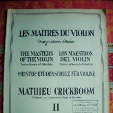 Partituras musicales: 1924-MUSICA-LOS MAESTROS DEL VIOLIN-SEGUNDO CUADERNO-24 ESTUDIOS-MATHIEU CRICKBOOM. Lote 46242242
