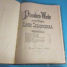 Partituras musicales: PARTITURAS 8 DE XAVER SCHARWENKA Y 21 ESTUDIOS DE CRAMER. ENCUADERNADAS EN TAPA DURA Y LOMO DE PIEL. Lote 46482780