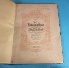Partituras musicales: PARTITURA DAS WOHLTEMPERIRTE KLAVIER DE J.S. BACH. ENCUADERNADA EN TAPA DURA Y LOMO DE PIEL. Lote 46482848