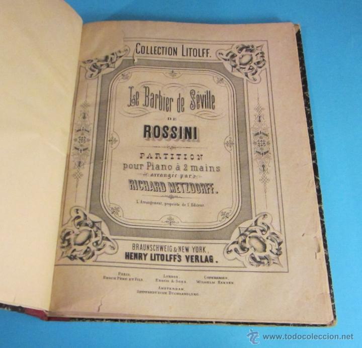 PARTITURAS. EL BARBERO DE SEVILLA DE ROSSINI. SCHWANENGESANG DE F. SCHUBERT. ARREGLO R. METZDORFF (Música - Partituras Musicales Antiguas)