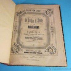Partituras musicales: PARTITURAS. EL BARBERO DE SEVILLA DE ROSSINI. SCHWANENGESANG DE F. SCHUBERT. ARREGLO R. METZDORFF. Lote 46498993