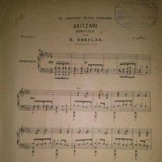 Partituras musicales: ARITZARI ZORTCICO POR D. ZABALA DEDICADO AL CIRCULO VASCO NAVARRO. Lote 46548253