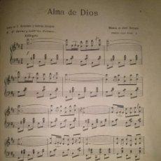Partituras musicales: ALMA DE DIOS ESCENA Y BAILE LA FARRUCA DEL MAESTRO SERRANO. Lote 46619818