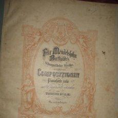Partituras musicales: LIBRETO ENCUADERNADO DE PARTITURAS MENDELSSOHN OBRAS. Lote 47530906