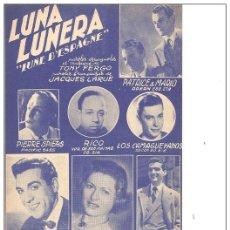 Partituras musicales - Luis Mariano. - 47826034