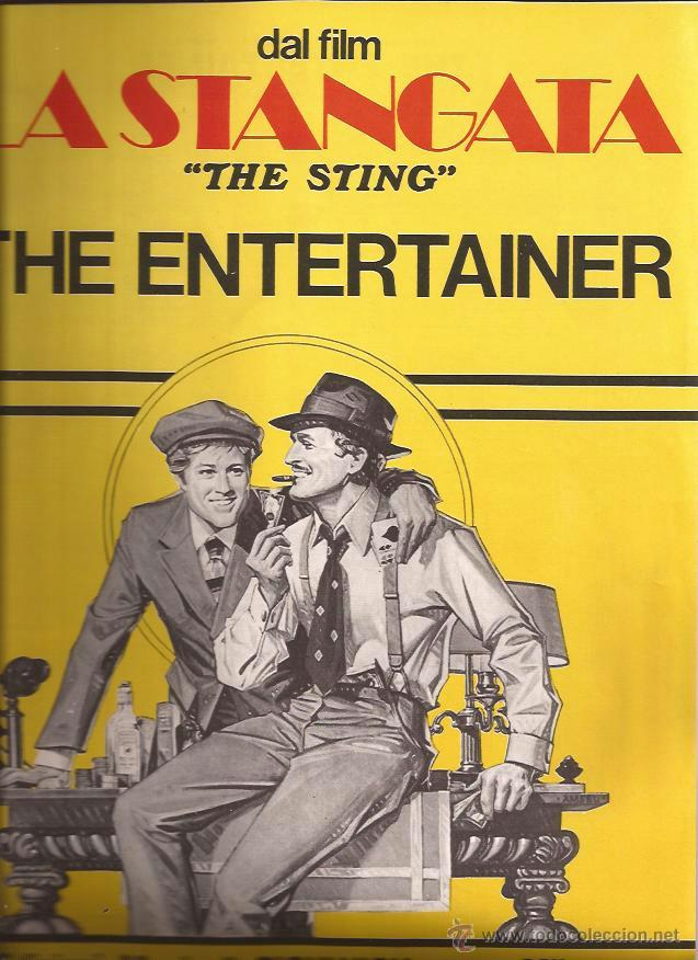 PARTITURA-THE STING EL GOLPE THE ENTERTAINER SCOTT JOPLIN-ITALIANA-JAZZ (Música - Partituras Musicales Antiguas)