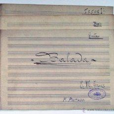Partituras musicales: LOTE DE 3 ANTIGUAS PARTITURA MANUSCRITA. BALADA. MARTINEZ TORNER. ASTURIAS. CORAL GIJON. Lote 48580652