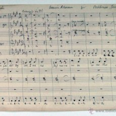 Partituras musicales: ANTIGUAS PARTITURA MANUSCRITA ASTURIAS. CANCION ASTURIANA. BALDOMERO FERNANDEZ. Lote 48580689