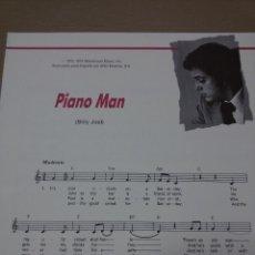 Partituras musicales: PARTITURA PIANO MAN DE BILLY JOEL-GUITARRA-LETRA INGLÉS-ESPAÑOL. Lote 48705501