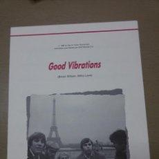Partituras musicales: PARTITURA GOOD VIBRATIONS DE BRIAN WILSON,MIKE LOVE-GUITARRA-LETRA INGLÉS-ESPAÑOL. Lote 48705523