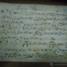 Partituras musicales: PARTITURA MANUSCRITA SIGLO XIX PRINCIPIOS SIN IDENTIFICAR TANDA DE RIGODONES. Lote 49217022