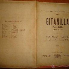 Partituras musicales: ANTIGUA PARTITURA - GITANILLA PASO DOBLE PIANO, NATALIO NAPPE , ARREGLO PARA PIANO POR JOSE BRULLO ,. Lote 49252242