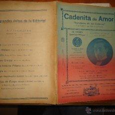 Partituras musicales: ANTIGUA PARTITURA - CADENITA DE AMOR, RANCHERA DE MI CORAZON, ROBERTO DIAZ, CARLOS MARCUCCI, TRIMANI. Lote 49252445