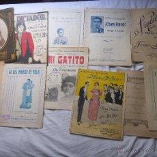 Partituras musicales: PARTITURAS MUSICALES ANTIGUAS..11 DISTINTAS..AÑOS 40 Y ANTERIORES....... Lote 49528894