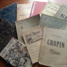 Partituras musicales: GIGANTESCO GRAN LOTE DE ANTIGUAS PARTITURAS 1800 / 1900 , GRAN VARIEDAD PIANO, SERENATA...ETC LIBROS. Lote 49636905