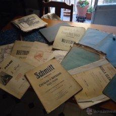 Partituras musicales: GIGANTESCO GRAN LOTE DE ANTIGUAS PARTITURAS 1800 / 1900 , GRAN VARIEDAD PIANO, SERENATA...ETC LIBROS. Lote 49637221