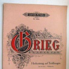 Partituras musicales: EDVARD GRIEG OPUS 65 Nº 6. Lote 49640610