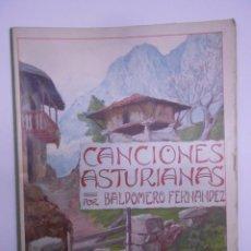 Partituras musicales: PARTITURA CUARENTA CANCIONES ASTURIANAS. BALDOMERO FERNÁNDEZ. SIN FECHA (1914). ASTURIAS.. Lote 50086656