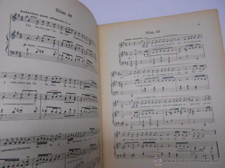 Partituras musicales: PARTITURA Cuarenta canciones asturianas. Baldomero Fernández. SIN FECHA (1914). Asturias. - Foto 5 - 50086656