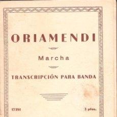 Partituras musicales: ORIAMENDI HIMNO DEL CARLISMO UNION MUSICAL ESPAÑOLA 1 GUION 27 PAPELES.PM35. Lote 50132575