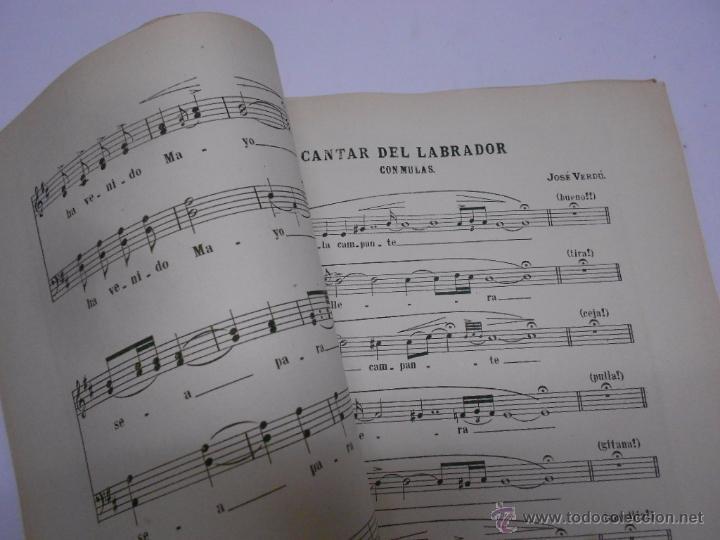 Partituras musicales: COLECCION DE CANTICOS POPULARES DE MURCIA POR F.VERDU. DEDICATORIA MANUSCRITA... AÑO 1905.RARISIMO - Foto 5 - 50138793