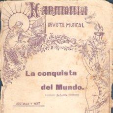 Partituras musicales: LA CONQUISTA DEL MUNDO SCHOTTI DE SOUTULLO Y VERT 1 GUION 16 PAPELES PM44. Lote 50143534