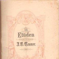 Partituras musicais: J. B. CRAMER. ESTUDIO PARA PIANO. EDICION PETERS . 47 PÁGINAS. Lote 50184778