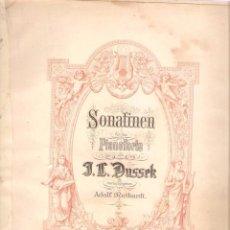 Partituras musicais: J. L. DUSSEK. SONATINEN. PARA PIANO. OP.20. Nº 1. EDITION PETERS. 42 PÁGINAS. Lote 50186078