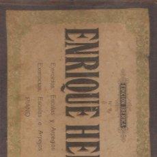 Partituras musicales: EJERCICIOS DE PIANO DE ENRIQUE HERZ EDICION IBERICA Nº-9 . 56 PÁGINAS. Lote 50225765
