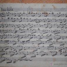 Partituras musicales: CANOVAS DEL CASTILLO -PARTITURA . PASODOBLE AL TORERO BOMIBTA SOBRE 1900. Lote 27273275