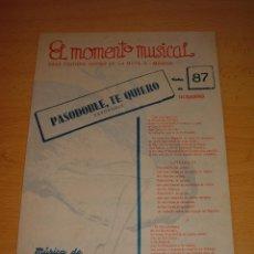 Partituras musicales: ANTIGUA PARTITURA PASODOBLE TE QUIERO, 1953. Lote 50576644