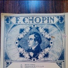 Partituras musicales: F.CHOPIN. Lote 51454573