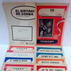 Partituras musicales: LOTE 11 PARTITURAS MUSICALES - CANCIONES DEL MUNDO -. AÑOS 39 A 65. VER.. Lote 51816590