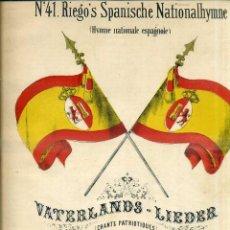 Partituras musicales: HIMNO DE RIEGO - HIMNO NACIONAL ESPAÑOL (SCHOTT, SIGLO XIX). Lote 51955153