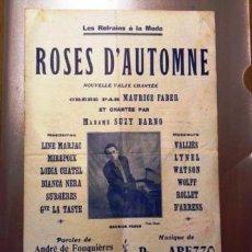 Partituras musicales: ANTIGUA PARTITURA ROSES D, AUTOMNE NOUVELLE VALSE CHANTÉE. Lote 51969662