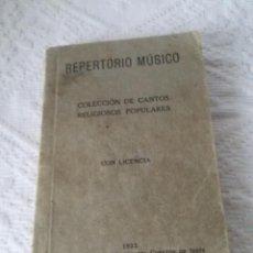 Partituras musicales: REPERTORIO MÚSICO-COLECCIÓN DE CANTOS RELIGIOSOS POPULARES-1922-14X9 CM. Lote 52008042