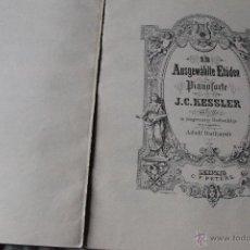 Partituras musicales: ANTIGUO LIBRO DE PARTITURAS, CARL CZERNY, J.C. KESSLER.. CUÑO UNION MUSICAL ESPAÑOLA. Lote 52153391
