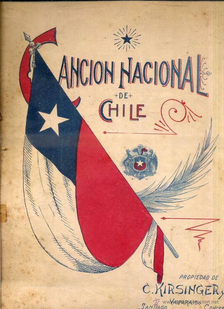 CANCIÓN NACIONAL DE CHILE (Música - Partituras Musicales Antiguas)