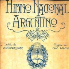 Partituras musicales: HIMNO NACIONAL ARGENTINO. Lote 52579572