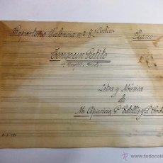 Partituras musicales: ANTIGUA PARTITURA ESCRITA A PLUMA PARA PIANO ANO 1933. Lote 52695114