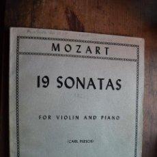 Partitions Musicales: 19 SONATAS PARA VIOLIN Y PIANO, MOZART, INTERNATIONAL MUSIC COMPANY, SIN DATAR. Lote 52700645