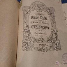 Partituras musicales: KONZERT-ETÜDEN, ADOLPH HENSELT, 1935, PARTITURA. RARA. Lote 52950492