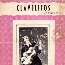 Partituras musicales: ANTIGUA PARTITURA, CLAVELITOS CANCION POPULAR. Lote 180854807