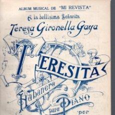 Partituras musicales: MANUEL MATEOS : TERESITA - HABANERA. Lote 53017540