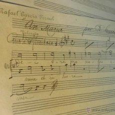 Partituras musicales: TENOR DE CORO MANUSCRITO S XIX EN VALENCIA PARTITURA ORIGINAL DE RAFAEL GARCIA TERUEL AVE MARIA. Lote 27545514