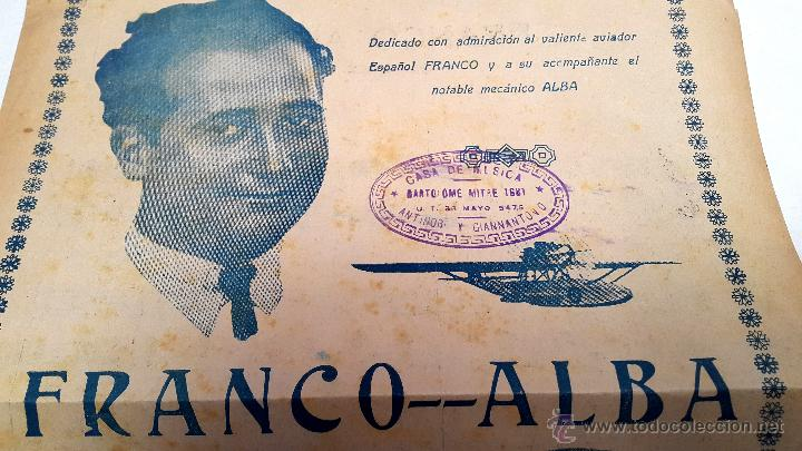 Partituras musicales: RAMÓN FRANCO - PASODOBLE - HOMENAJE PLUS ULTRA - 1926 - Foto 2 - 53101049