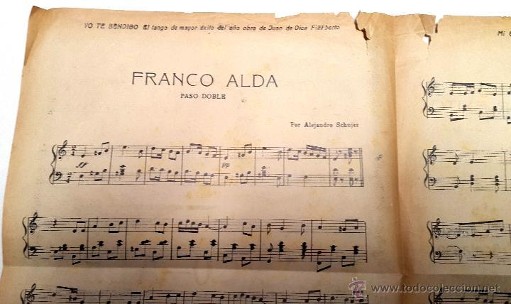 Partituras musicales: RAMÓN FRANCO - PASODOBLE - HOMENAJE PLUS ULTRA - 1926 - Foto 3 - 53101049